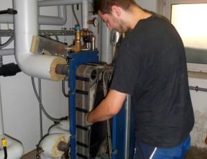 Reinigung eines Plattenwärmetauschers