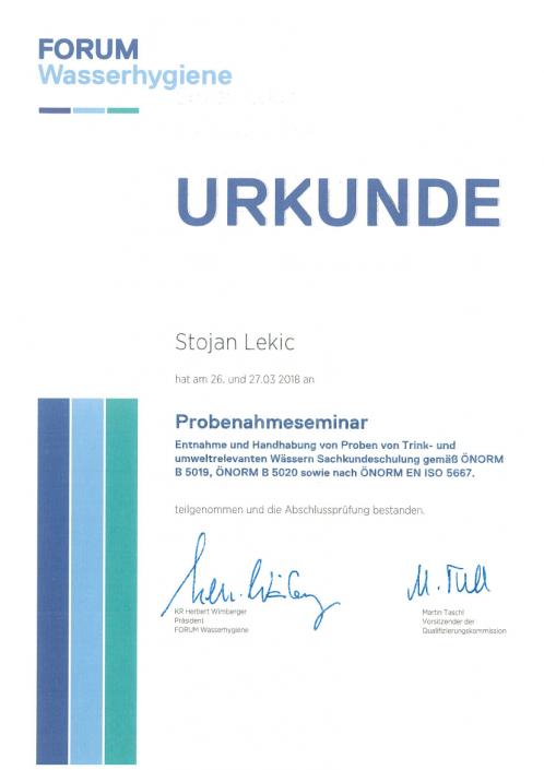 Stojan-Lekic-Probenahmeseminar-Zertifikat